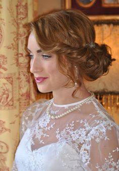 Lace Wedding, Wedding Dresses, Hair Styles, Fashion, Bride Dresses, Hair Plait Styles, Moda, Bridal Gowns, Fashion Styles