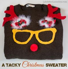 Ugly christmas sweaterued on felt christmas diy christm ugly christmas sweaterued on felt christmas diy christm funny xmas pinterest felt christmas ugliest christmas sweaters and felting solutioingenieria