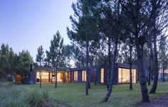 Modern Beach House by Estudio PKa - located in La Costa Partido Argentina Villa, Beautiful Homes, Beach House, Architecture Design, Tiny House, New Homes, Cottage, Exterior, House Design