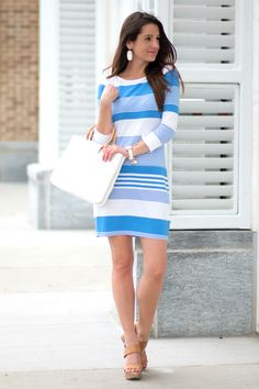 Nautical T-Shirt Dress from Lilly Pulitzer – Outfit Inspiration – Amazing Outfits Preppy Outfits, Preppy Style, Dress Outfits, Cool Outfits, Summer Outfits, Nautical Style, Amazing Outfits, Nike Outfits, Modest Fashion