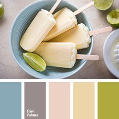 Blue Color Palettes, gray-blue, gray-purple, ice cream color, lime color, pastel creme color, pastel tones, pink and peach, pistachio, shades of peach color, tender color palette, turquoise.