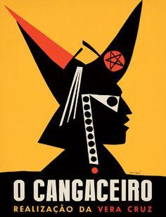 Desenho de Carybé para o cartaz do filme O cangaceiro, 1953, produzido pela Vera Cruz