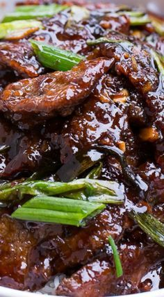 Mongolian Beef (PF Chang's Copycat) ~ Fabulously delicious and it's easy to make at home