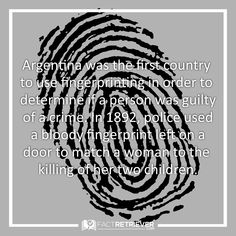 Argentina's role in fingerprinting