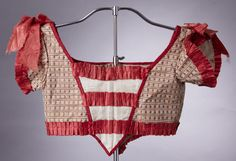 1820er, Oberteil für Mädchenkleid, aus Seide, Frankreich