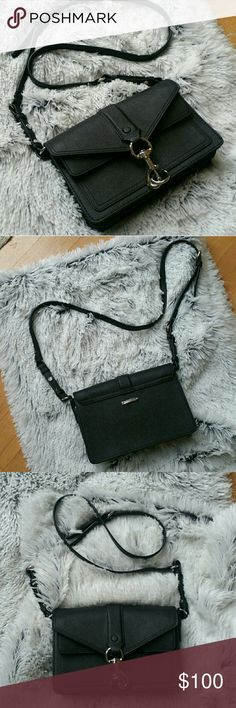 Rebecca Minkoff Hudson Moto Mini Crossbody Bag Black & silver hardware Excellent condition  Comes with dust bag and cards Rebecca Minkoff Bags