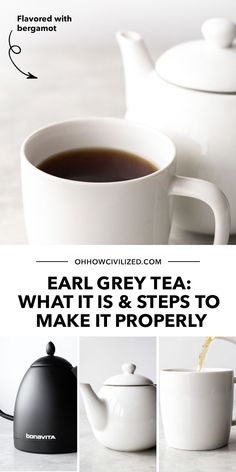 Earl Grey Tea is one of the most popular, most consumed teas in the world. Learn what it is in this post, plus the proper steps to make it if you're keen to try! Click to continue. Hot Tea Recipes, Drink Recipes, Free Recipes, Homemade Iced Tea, Chrysanthemum Tea, Tea Etiquette, Plat Vegan, Peach Ice Tea, Tea Snacks