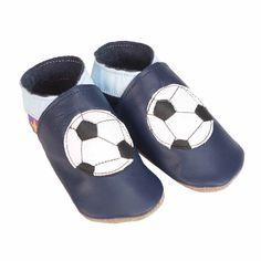 Pantofiori din Piele pentru Bebelusi – Fotbal