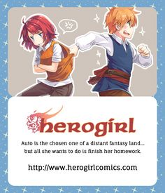 Business card design for Herogirl, the webcomic #webcomic #businesscarddesigns #anime #manga