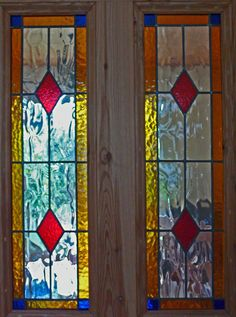 Extensive gallery of stained glass window designs. Choose from one of our many stained glass patterns or we can custom design a pattern for you. Glass Wardrobe, Stained Glass Door, Mosaic Designs, Stained Glass Patterns, Window Design, Panel Doors, Glass Panels, Glass Art, Custom Design