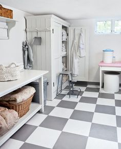 Love this laundry area.