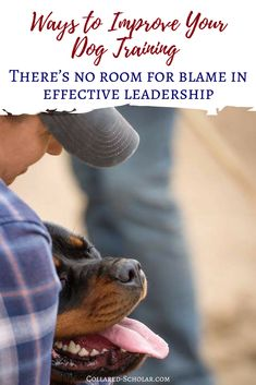 Changing your mindset and improving your dog training strategy: There's no room for blame in effective leadership #dogtrainingtips