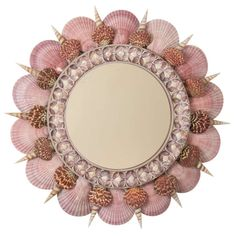 Contemporary Coquillage Mirror by Thomas Boog   From a unique collection of antique and modern wall mirrors at http://www.1stdibs.com/furniture/mirrors/wall-mirrors/