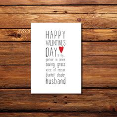 Happy Valentine's Day to my... Husband by WintsPrints on Etsy, $2.00