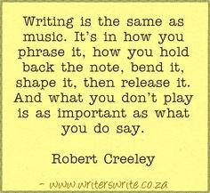 Quotable - Robert Creeley