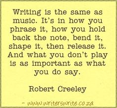 Quotable - Robert Creeley - Writers Write Creative Blog