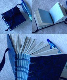 Mini coptic stitched book