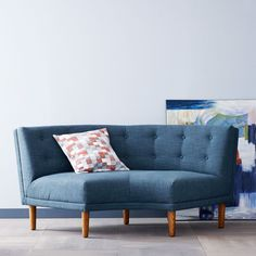 Rounded Retro Curved Sofa