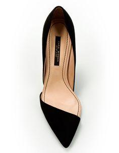 zara asymmetric court shoe.