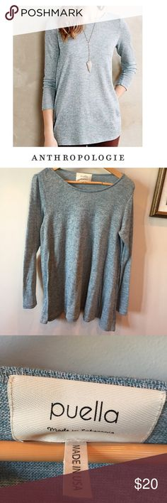 Spotted while shopping on Poshmark: Anthropologie Puella Blue Mulette Knit Tunic! #poshmark #fashion #shopping #style #Anthropologie #Tops