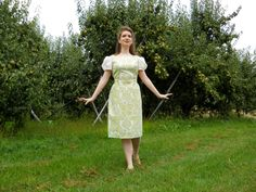 """I made them from the drapes that used to hang in my bedroom""...  Here is one of my Sound of Music inspired creations, which is a near replica of the picnic dress which Liesl wore.  You can see more pictures here: http://www.edelweisspatterns.com/blog/?p=1287"