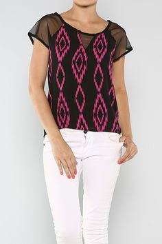 Aztec Print Top #wholesale #clothing #pink #fashion #summer #love #ootd #wiwt #shorts #skirts #dresses #tanks