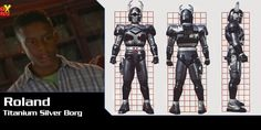 Roland is a very good friend of Drew's and Jo's he is the normal kid who loves his comics. His family owns Zoom Comic shop were he buys all the latest issues of Beetleborgs. He has the special ability of being able to run at great speeds. His armor design is based off of the Stag Beetle.