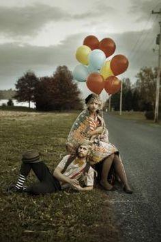 color schemes, engagement photos, halloween costumes, vintage colors, weddings, vintage circus, wedding photos, balloons, circus wedding