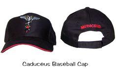 Caduceus Baseball Cap Medical Medicine