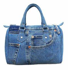 BDJ Classic Blue Denim Jean Doctor Style Women Handbag