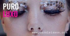Cílios postiços com cristais Swarovski para o Carnaval