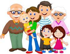 Illustration of Happy cartoon family vector art, clipart and stock vectors. Family Clipart, Family Vector, Family Picture Clipart, Family Theme, Cute Family, Happy Family, Fall Family, Happy Cartoon, Cartoon Kids