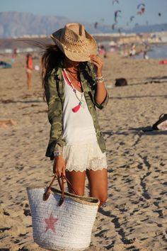cute outfit with military shirt