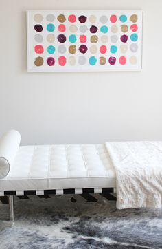abstract painting #art #cocoaandhearts #abstract Lipstick Dots 4 - an original painting by Jen Ramos at Cocoa & Hearts