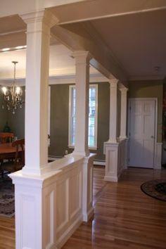 between front & living rooms