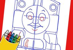 Here's how to draw the No 1 Blue Engine! It's fun to draw Thomas with this easy-to-follow step-by-step guide., http://www.thomastrainrides.com/fun-and-games.html#19may15