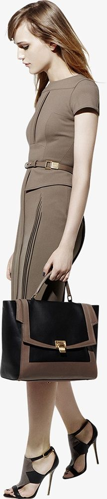 Short sleeve brown work dress