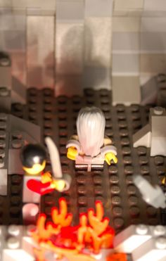Plato's Allegory of the Cave depicted in Lego blocks by P. deVry. Kudos!