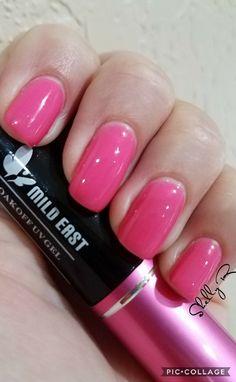 Mild East pink gel  08/20/17 Trugel base Gelaze top