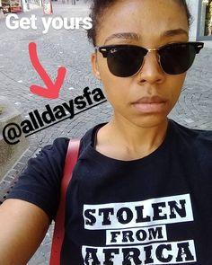 Yes!  link in bio #repost @aaljames  #alldaysfa #stolenfromafrica