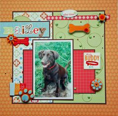 Cute Page Idea for a Dog Scrapbook.
