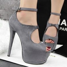 Giày cao gót hở mũi cao 15cm G-217.1