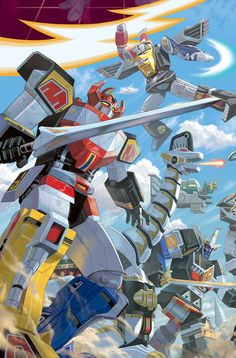 Featuring: Dino Megazord, Titanus, Shogun Megazord, Tor, and Ninja FalconMegazord. of 12 My variant cover for Mighty Morphin Power Rangers Power Rangers Comic, Go Go Power Rangers, Mighty Morphin Power Rangers, Robot Cartoon, Cartoon Posters, Cartoon Characters, Kamen Rider, Pawer Rangers, Right In The Childhood