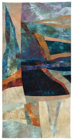 "Quilt National 2015: ""Estuary – Anaheim Black Bay"" by Bonnie Bucknam, USA"