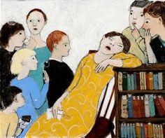 Asleep at a Party by Brian Kershisnik