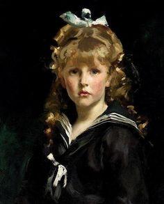 John Singer Sargent Portrait de Jeune Fille 1883.  I like the hair most