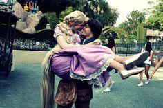 Princess Rapunzel and Flynn Rider