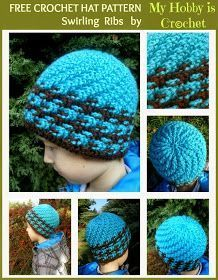 Crochet Hat Swirling Ribs- **FREE** crochet pattern and tutorial. 01-18-18