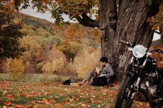 Vintage Americana-Inspired Motorcycle Engagement Photos