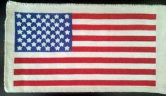 Cross Stitched American Flag